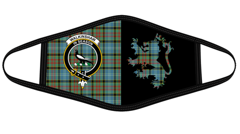 Walkinshaw Clan Badge Lion Mask Tartan Version 2 K6