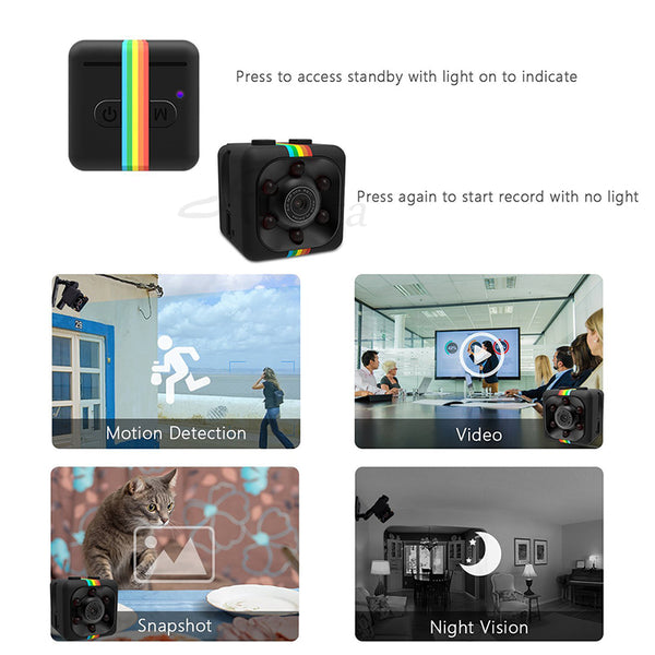 SQ11 mini camera 1080P HD Sport DV DVR Monitor