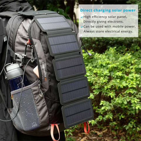 Lerranc Portable Folding 10W Solar Panels Charger
