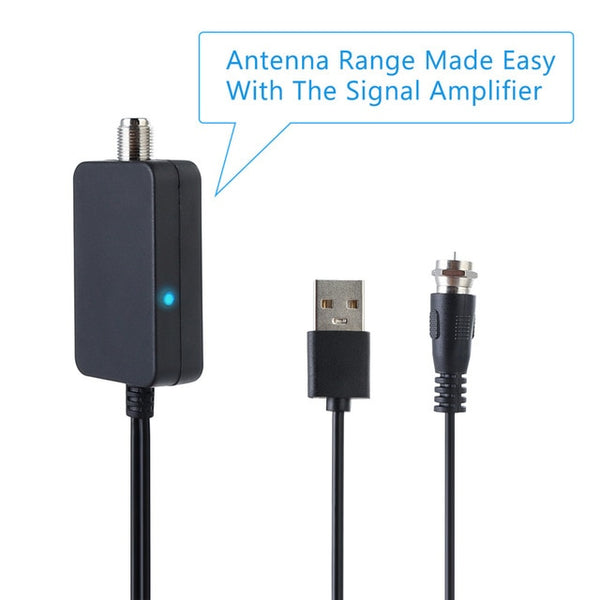 HDTV TV Antenna Amplifier Signal Booster TV Aerial Adapter