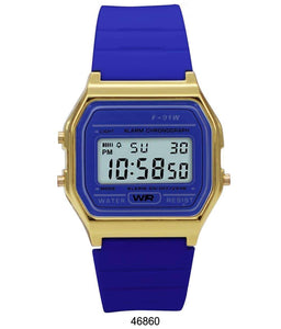 Sporty Navy Silicon Digital Watch