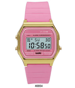 Sporty Pink Silicon Digital Watch