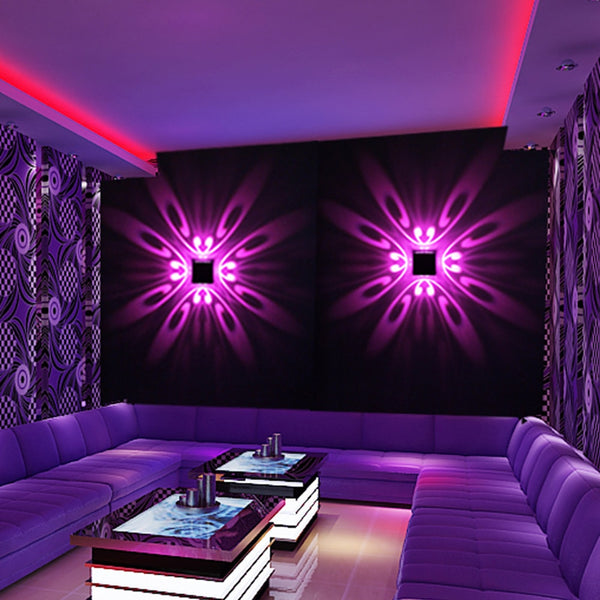 Mural Luminaire Background LED Wall Mounted Projection Colorful Lamp for Home Hotel KTV Bar