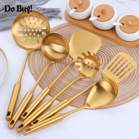 7pcs Kitchen Cooking Tools Spoon Spatula Ladle Skimmer Storage Rack