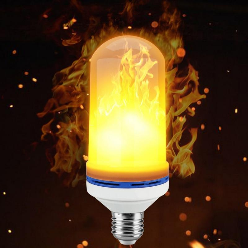 LED Effect Flickering Fire Light  Lamp