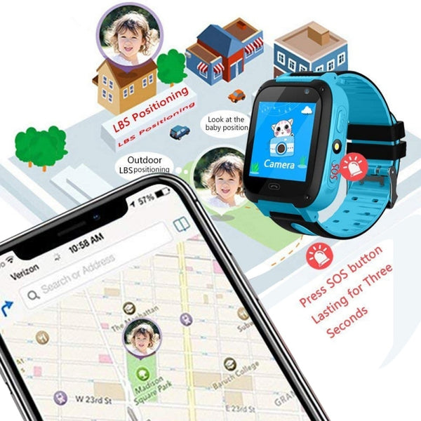 GPS Tracker Kids Camera Smart Watch