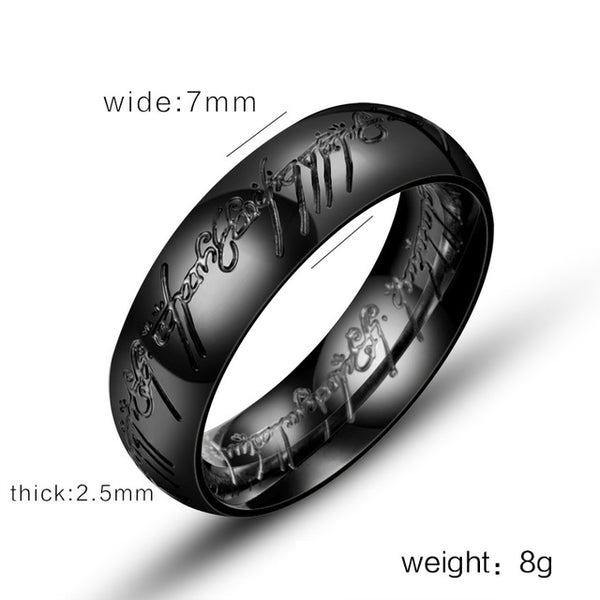 BEIER  Magic Letter of One Ring Black Silver Gold