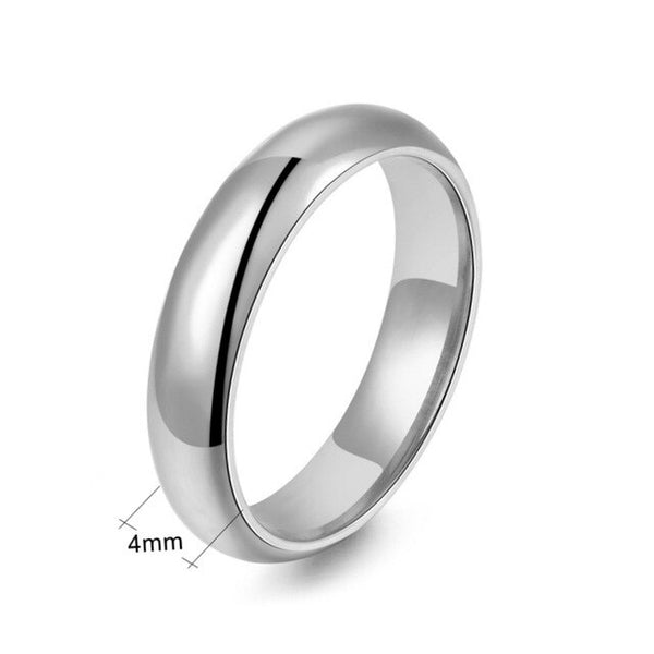 Beiliwol Silver Color Men Wedding Rings for Women Fashion Titanium Steel Simple Couple Ring Lover' Jewelry Forever Love Engrave