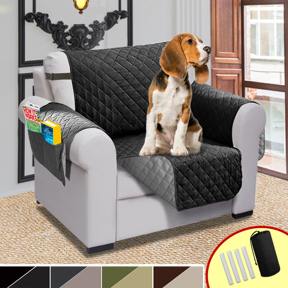Chair Recliner Cover Pet Dog and Kids Waterproof Quilted Sofa Covers For Living Room Couch Slipcover Sofa Cover Elastic