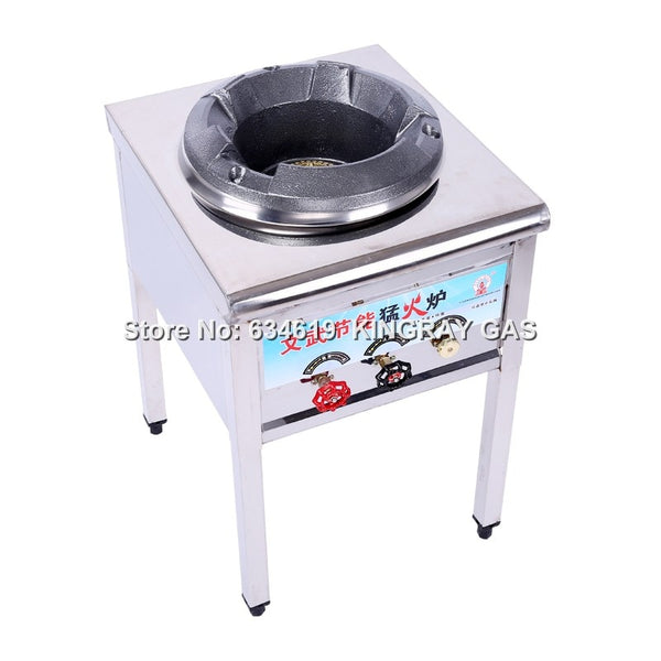 Commercial High Pressure Liquefied Gas Fire Stove Cast Iron Gas Cooking Burner Energy-Saving Single Restaurant Burner