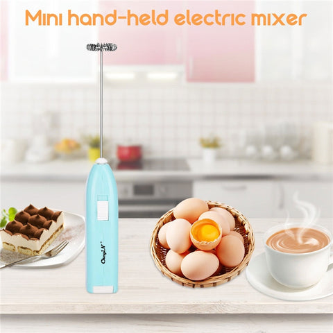 Electric Egg Beater Juice Coffee Milk Whisk Mixer Frother Foamer Stirrer Handheld Blender Spring Whisk Kitchen Cooking Tool