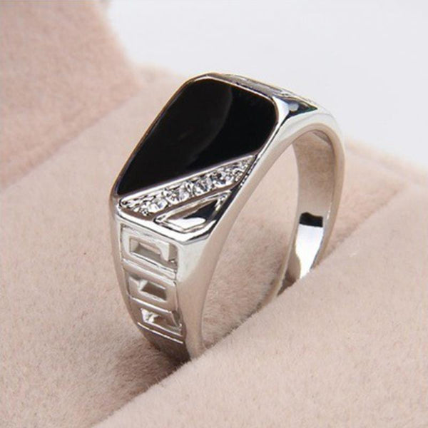 Fashion Men Gift Ring Finger Rings Vintage Wedding Party Alloy Ring Engagement