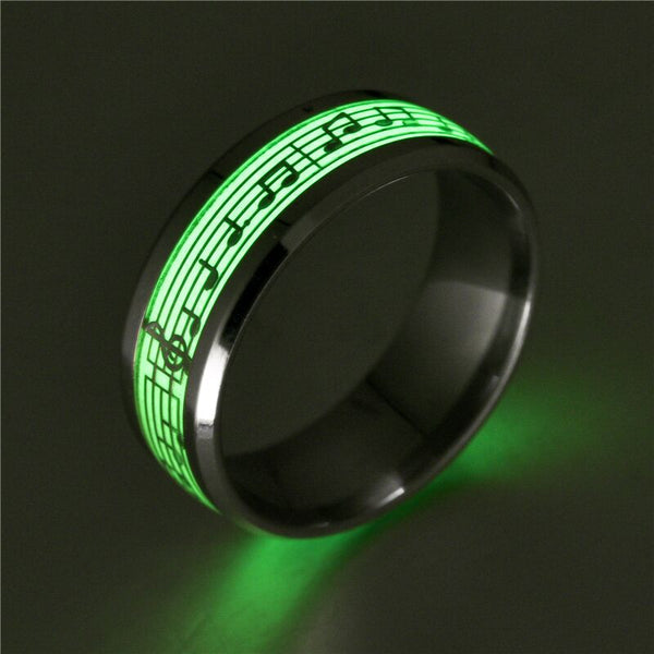 Fashion for women and man Stainless Steel Piano Music Luminous  Explosion Musical Note Fluorescence Accessories G-014