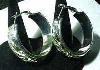 Women Pierced Hoop Earrings