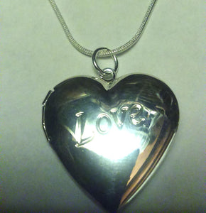 Heart Shaped Locket Sterling SS925 Silver 18 inch chain