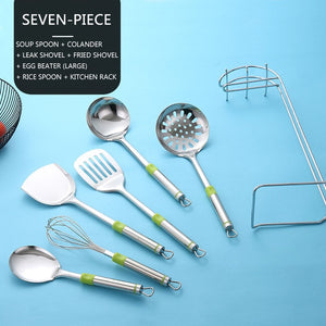 Multifunction Kitchen Tools Set With Holder Stainless Steel Kitchen Cooking Utensils Set Ladle Spatula Kitchenware Set