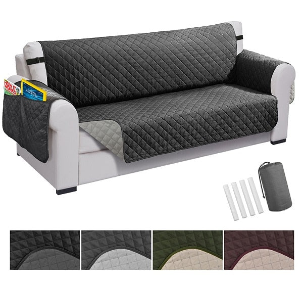 Recliner Sofa Cover Pet Dog Kids Mat Protector Elastic Sofa Couch Cover Waterproof Quilted Furniture Protector