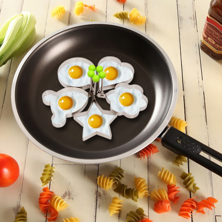 Stainless Steel Fried Egg Shaper Pancake Mold Omelette Mold Frying Egg Cooking Tools 5 Style Kitchen Accessories Gadget