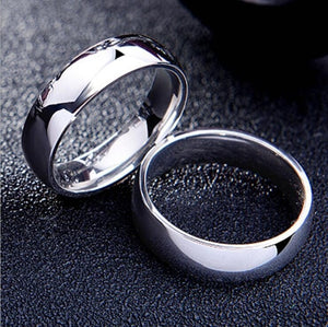 Trendy Simple Smooth Mirror Glossy Wedding Bands Rings For Men Stainless Steel Engagement Ring Dropshipping Bulk Jewelry