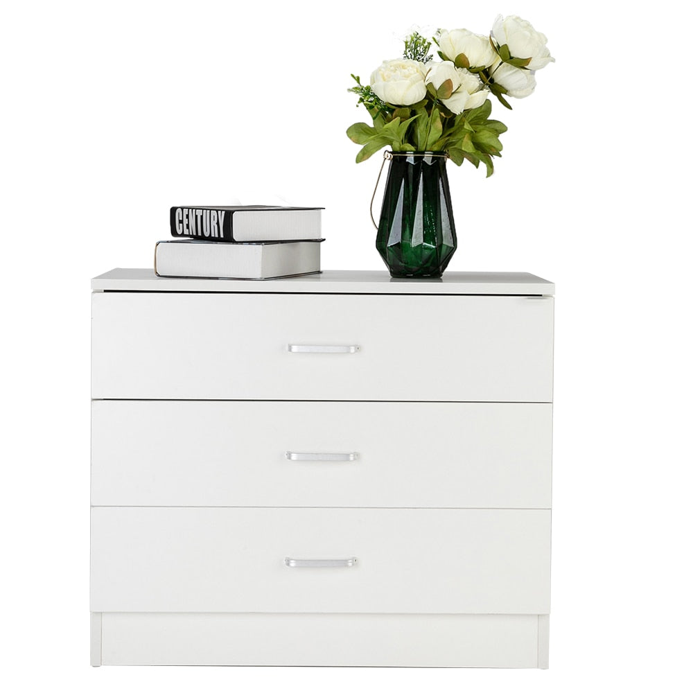 Wood Simple 3-Drawer Dresser room bedside coffee table bedroom Bedside balcony magazine coffee table square table computer desk