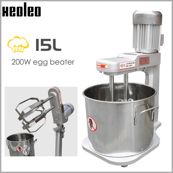 XEOLEO Planetary mixer 15L Dough mixer Stand mixer Commercial Double Stirring bread kneading machine Egg beat machine 200W 220V