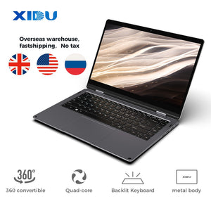 XIDU Laptop PhilBook Max 14.1'' tablet TouchScreen Notebook Window 10 Tablet