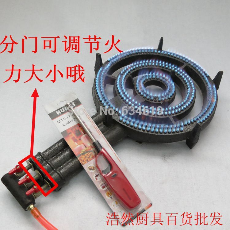 high flame 3 fire rings propane gas cooking burner energy saving kitchen burner cast iron gas stove burner