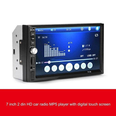 7 Inch Car Video Player with Touch Screen Bluetooth FM Stereo Radio
