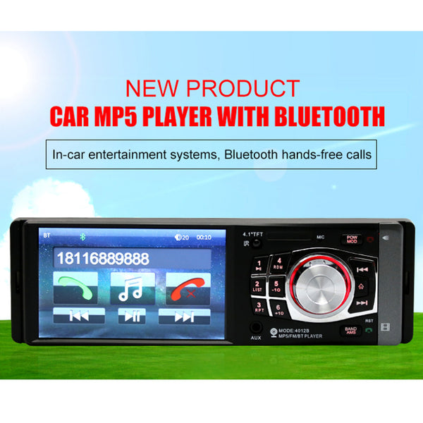 4.1 inch 12V Bluetooth TFT LED Screen Handsfree Car Radio Stereo
