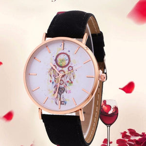 Women's Casual Leather Quartz-Watch