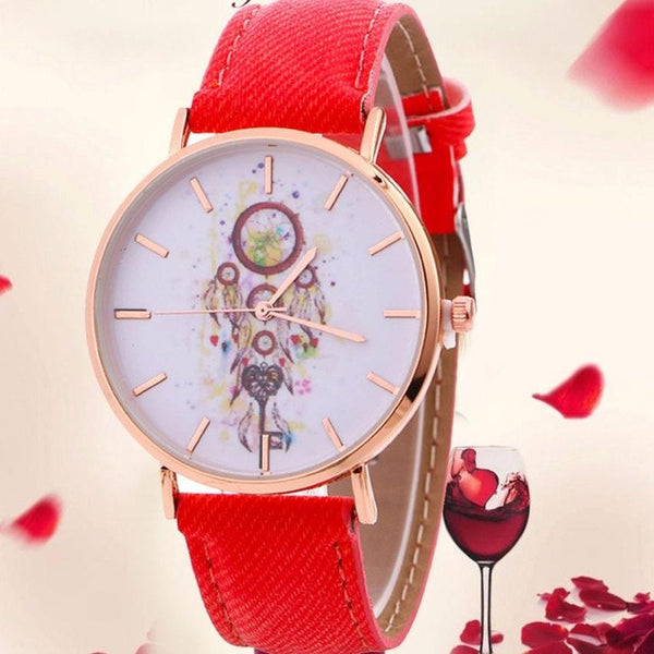 Hot Sales Women's Casual Leather Quartz-Watch