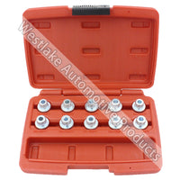 10pcs New Release Splined Socket For BMW Locking Wheel Nuts Set