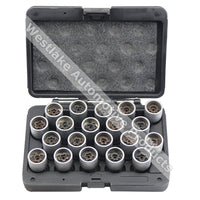 20pcs Wheel Locking Nut Removal Socket Tool Wheel Screw Removal Set For BMW