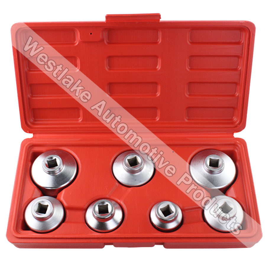 7PCS Oil Filter Cap Socket Wrench Tool Set