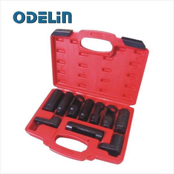 10 Pcs Oil Sensor Pressure Sending Unit Socket Set Oxygen Injector Tool