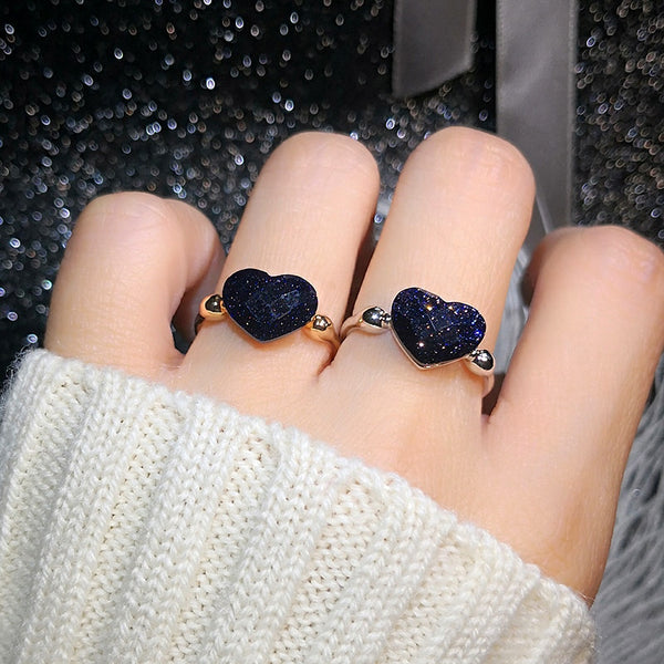 MOONROCY Crystal Heart Shape Ring