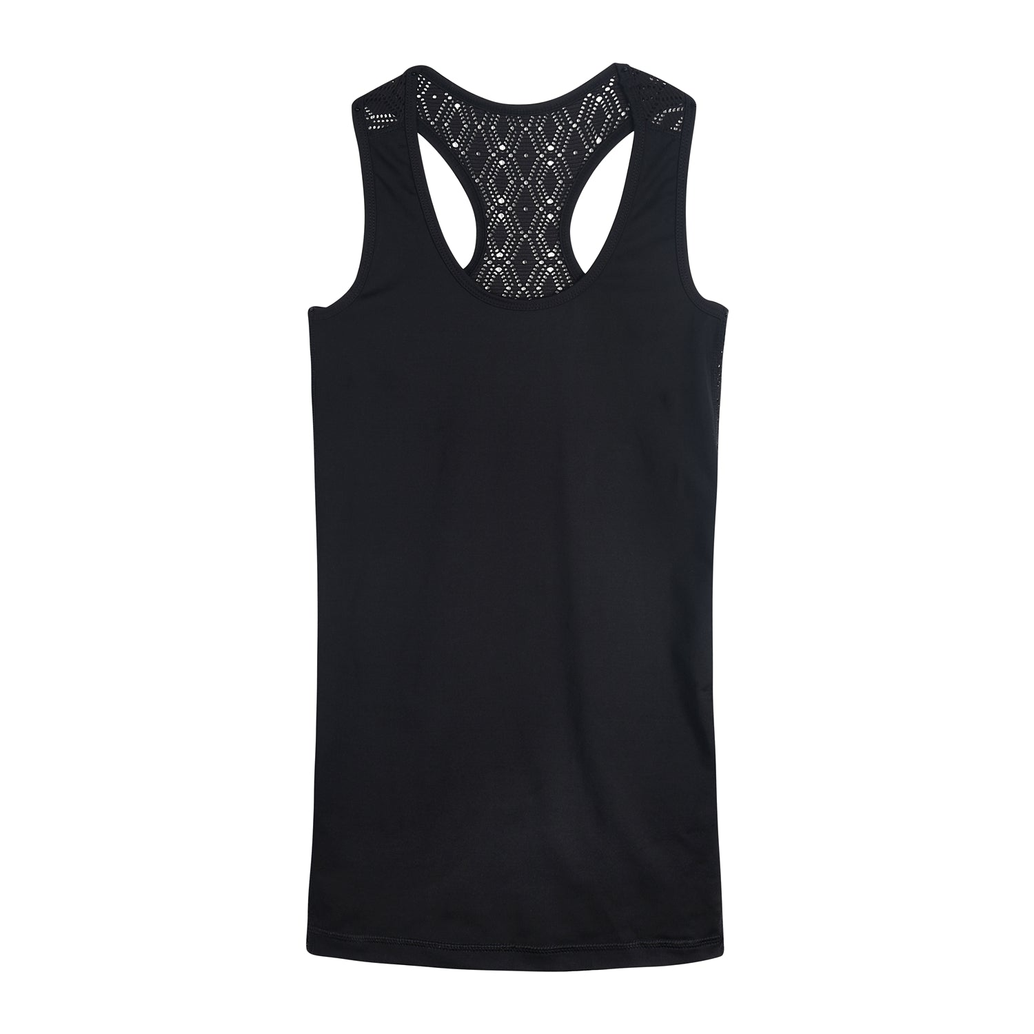 "Women's Tank Top "" Julia"" in solid black and soft lace - IAM3F"