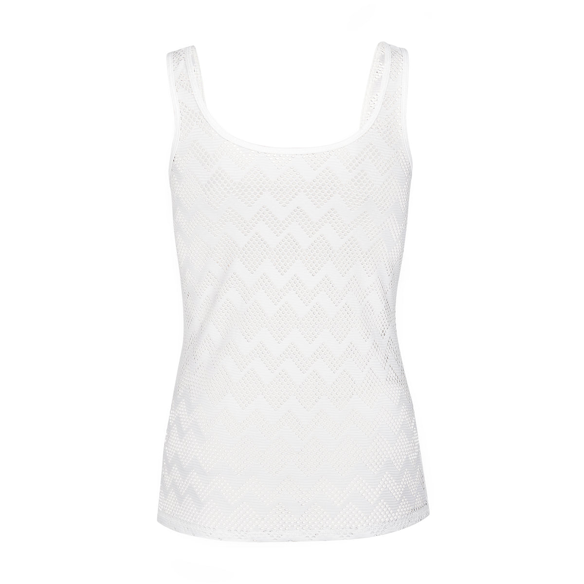 "Tanktop "" Michelle"" in soft white lace - IAM3F"