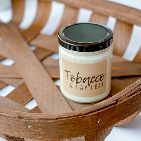 Tobacco & Bay Leaf Soy Candle