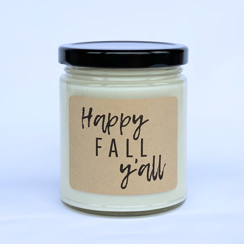 Happy Fall Y'all Soy Candle