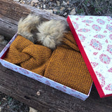 Ear Warmer & Pom Scarf Gift Set