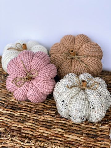 Knit Pumpkin - Small or Medium