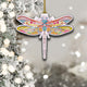 Colorful Dragonfly Mica Ornament