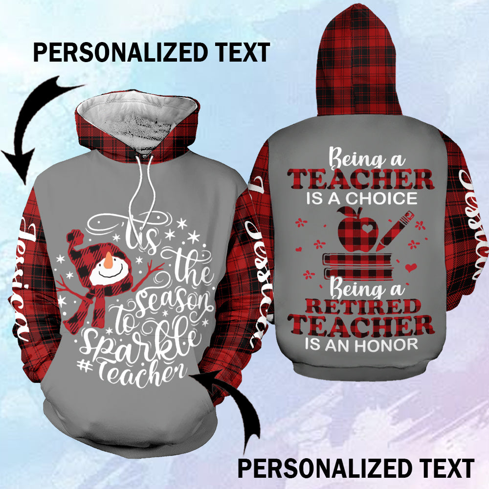 Tis the season to Sparkle teacher personalized-aahn26102001