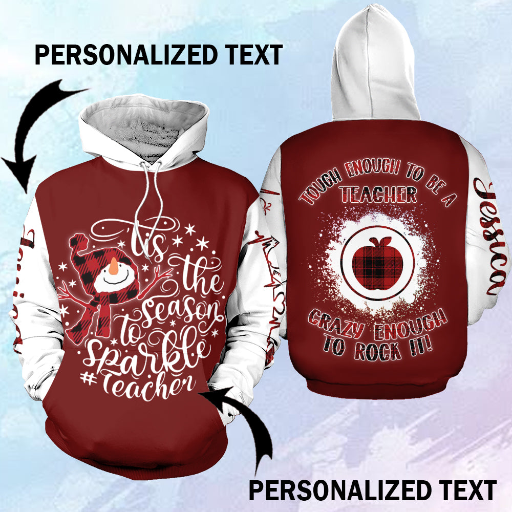 Tis the season to Sparkle teacher personalized-aahn26102002