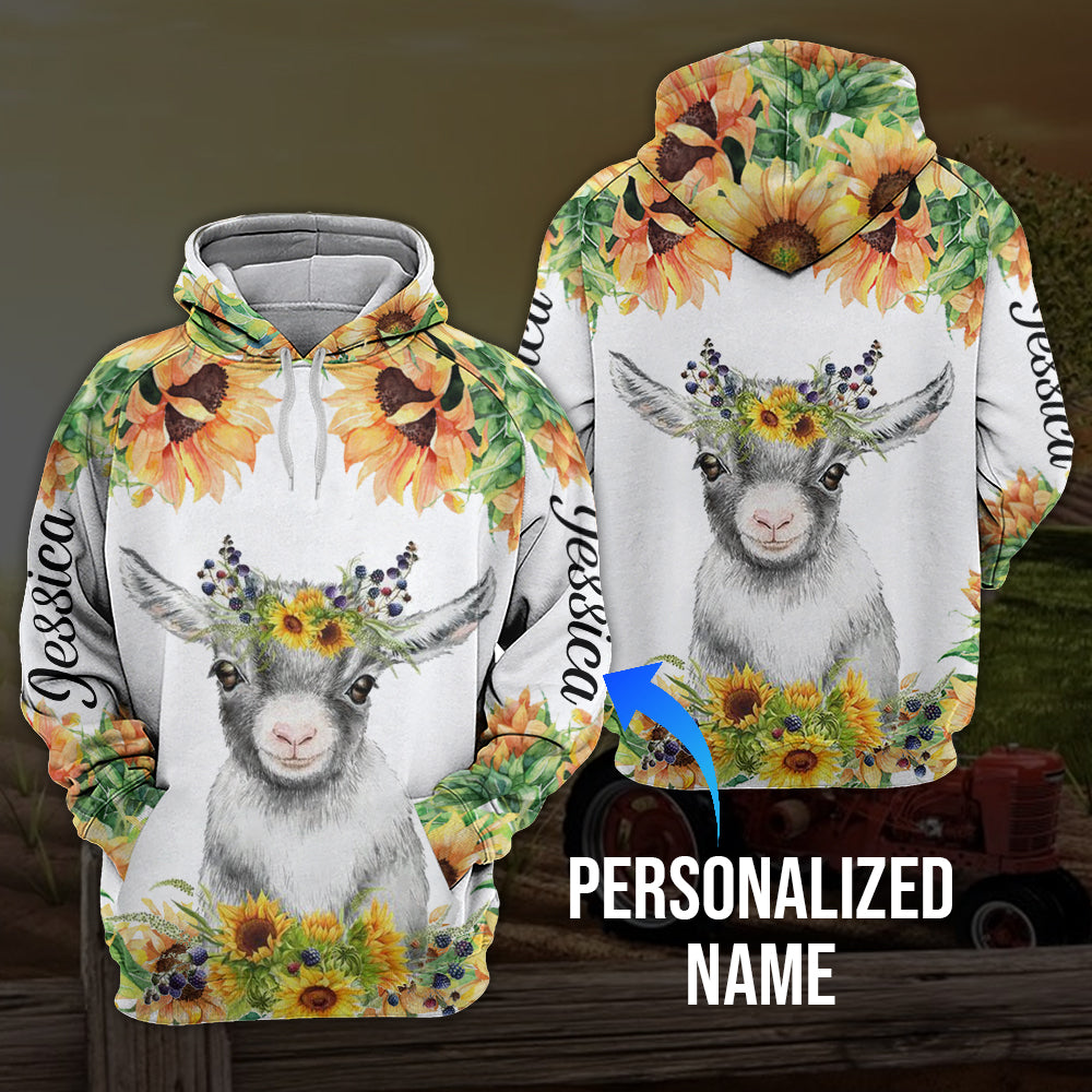 Sunflower goat 3D personalized name aanh30102001