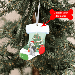 FUNNY PERSONALIZED DOG Ornaments Stockings - dtmd201010