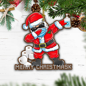 Merry Christmask Ornament