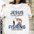 Jesus is my savior Fishing is my Therapy T-shirt/ Hoodie/ Crew aanh24092002