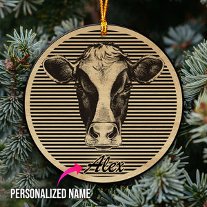 Customized Cow Mica Ornament - blnh28102001